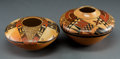 American Indian Art:Pottery, Two Contemporary Hopi Polychrome Jars. Mark Tahbo and Dianna Tahbo.c. 1996 and 1997. ... (Total: 2 Items)