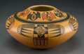 American Indian Art:Pottery, A Contemporary Hopi Polychrome Jar. Mark Tahbo...