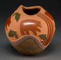 American Indian Art:Pottery, A Contemporary San Ildefonso Carved Polychrome Jar...