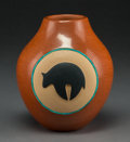 American Indian Art:Pottery, A Contemporary San Ildefonso Polychrome Jar. Dora Tse-Pe...