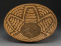American Indian Art:Baskets, A Pima Coiled Tray. c. 1910...