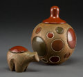 American Indian Art:Pottery, Two Contemporary San Ildefonso Pottery Items