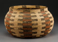 American Indian Art:Baskets, A Pima Polychrome Coiled Jar. c. 1930...