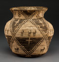 American Indian Art:Baskets, A Yavapai Pictorial Coiled Storage Jar. c. 1890...