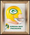 Football Collectibles:Others, 1965 Green Bay Packers Helmet Plaque.. ...