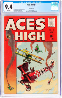 Aces High #2 Gaines File Pedigree 7/12 (EC, 1955) CGC NM 9.4 White pages