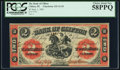 Canadian Currency, Clifton, PC- Bank of Clifton $2 Sept. 1, 1861 Ch. # 125-12-10.. ...