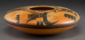 American Indian Art:Pottery, A Contemporary Hopi Polychrome Seed Jar. Karen Abieta...