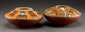 American Indian Art:Pottery, Two Contemporary Hopi Polychrome Seed Jars. Steven Lucas... (Total:2 Items)