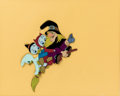 Animation Art:Poster, Trick or Treat Production Cel and Signed Poster Print (Walt Disney, 1952).... (Total: 2 Items)