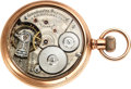 Timepieces:Pocket (pre 1900) , Waltham Model 88 Chronometro Supremo Only Known Lever Set ...
