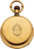 Timepieces:Pocket (pre 1900) , Waltham 18k Gold Model 72 Amn. Watch Co.  Case...