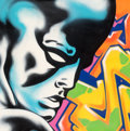 Fine Art - Painting, American:Contemporary   (1950 to present)  , Seen UA (American, b. 1961). Silver Surfer, c. 2013. Aerosolin colors on canvas. 45-5/8 x 45-5/8 in...