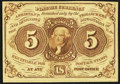 Fractional Currency:First Issue, Fr. 1231 5¢ First Issue Choice About New.. ...