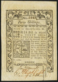 Colonial Notes:Rhode Island, Rhode Island May 1786 40s Very Fine-Extremely Fine.. ...