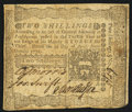 Colonial Notes:Pennsylvania, Pennsylvania April 3, 1772 2s Very Fine.. ...