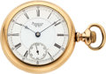 Timepieces:Pocket (pre 1900) , Waltham Model 83 Non-Magnetic Case: gold fille...