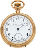 Timepieces:Pocket (pre 1900) , E. Howard & Co. Boston 21 Jewel 14k Gold L Size Split Plate. ...