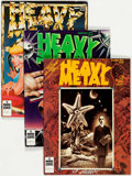 Magazines:Science-Fiction, Heavy Metal Group of 30 (HM Communications, 1979-89) Condition: Average VF.... (Total: 30 Comic Books)