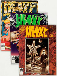 Heavy Metal Group of 30 (HM Communications, 1979-89) Condition: Average VF.... (Total: 30 Comic Books)