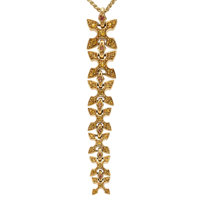 Sapphire, Gold Necklace