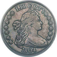 Featured item image of 1804 $1 Original PR62 PCGS Secure....