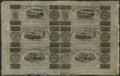 Canadian Currency: , Montreal, LC- Champlain & St. Lawrence Rail Road Company Bank 7 1/2d-15d-2s.6d-7 1/2d-15d-2s.6d Aug. 1, 1837 Uncut Sheet. ...