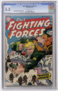 Golden Age (1938-1955):War, Our Fighting Forces #3 (DC, 1955) CGC FN- 5.5 Cream to off-whitepages....