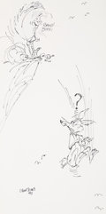 "Animation Art:Production Drawing, The Art of Wile E. Coyote, Road Runner, and Chuck Jones ""DoorPrize"" Drawing (Warner Brothers, 1993).. ..."
