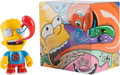 Fine Art - Sculpture, American:Contemporary (1950 to present), Kenny Scharf x Kidrobot. Bart, from The Simpsons,2015. Painted cast vinyl. 6 x 5 x 4 inches (15.2 13 x 10 cm). ...