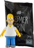 Fine Art - Sculpture, American:Contemporary (1950 to present), Ron English x Made by Monsters. Homer Grin, 2016. Paintedcast vinyl. 10-1/2 x 7 x 4 inches (26.67 x 17.5 x 10 cm). Ed. ...