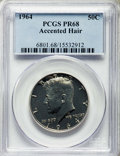 Proof Kennedy Half Dollars, 1964 50C Accented Hair PR68 PCGS. PCGS Population: (452/52). NGC Census: (1599/276). ...