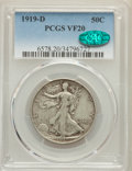 Walking Liberty Half Dollars: , 1919-D 50C VF20 PCGS. CAC. PCGS Population: (54/605). NGC Census: (25/408). CDN: $235 Whsle. Bid for problem-free NGC/PCGS ...