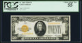 Small Size:Gold Certificates, Fr. 2402 $20 1928 Gold Certificate. PCGS Choice About New 55.. ...