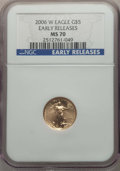 Modern Bullion Coins, 2006-W $5 Tenth-Ounce Gold Eagle, Burnished, Early Releases, MS70 NGC. NGC Census: (5681). PCGS Population: (1149)....