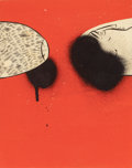 Barry McGee (American, b. 1966) Untitled, 2007 Gouache and spray paint on paper 10 x 8 inches (25
