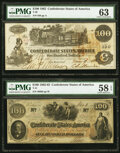 Confederate Notes:1862 Issues, T39 $100 1862;. T41 $100 1862.. ... (Total: 2 notes)