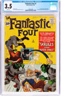 Silver Age (1956-1969):Superhero, Fantastic Four #2 (Marvel, 1962) CGC VG- 3.5 White pages....