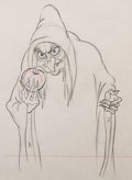 Animation Art:Production Drawing, Snow White and the Seven Dwarfs Old Hag with Poison AppleAnimation Drawing (Walt Disney, 1937)....