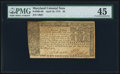 Colonial Notes:Maryland, Maryland April 10, 1774 $4 PMG Choice Extremely Fine 45.. ...