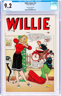 Willie Comics #14 Mile High Pedigree (Marvel, 1948) CGC NM- 9.2 White pages