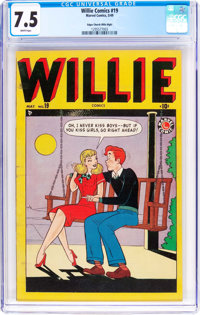 Willie Comics #19 Mile High Pedigree (Marvel, 1949) CGC VF- 7.5 White pages