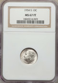 Roosevelt Dimes, 1954-S 10C MS67 Full Bands NGC. NGC Census: (41/1). PCGS Population: (22/1). Mintage 22,860,000. ...