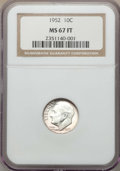 Roosevelt Dimes, 1952 10C MS67 Full Bands NGC. NGC Census: (39/0). PCGS Population: (30/0). Mintage 99,000,000. ...