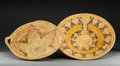 American Indian Art:Baskets, Two Southwest Polychrome Coiled Trays... (Total: 2 Items)
