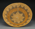 American Indian Art:Baskets, A Navajo Polychrome Coiled Wedding Tray. ...