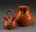 American Indian Art:Pottery, Two Maricopa Black-On-Red Pottery Vessels. Phyllis Johnson and IdaRedbird ... (Total: 2 Items)