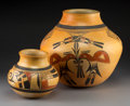 American Indian Art:Pottery, Two Hopi Polychrome Jars. Rachel Nampeyo . c. 1960... (Total: 2Items)