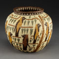 American Indian Art:Baskets, A Panamanian Polychrome Basketry Jar...