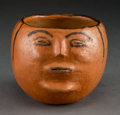 American Indian Art:Pottery, A Maricopa Polychrome Figural Bowl. ...